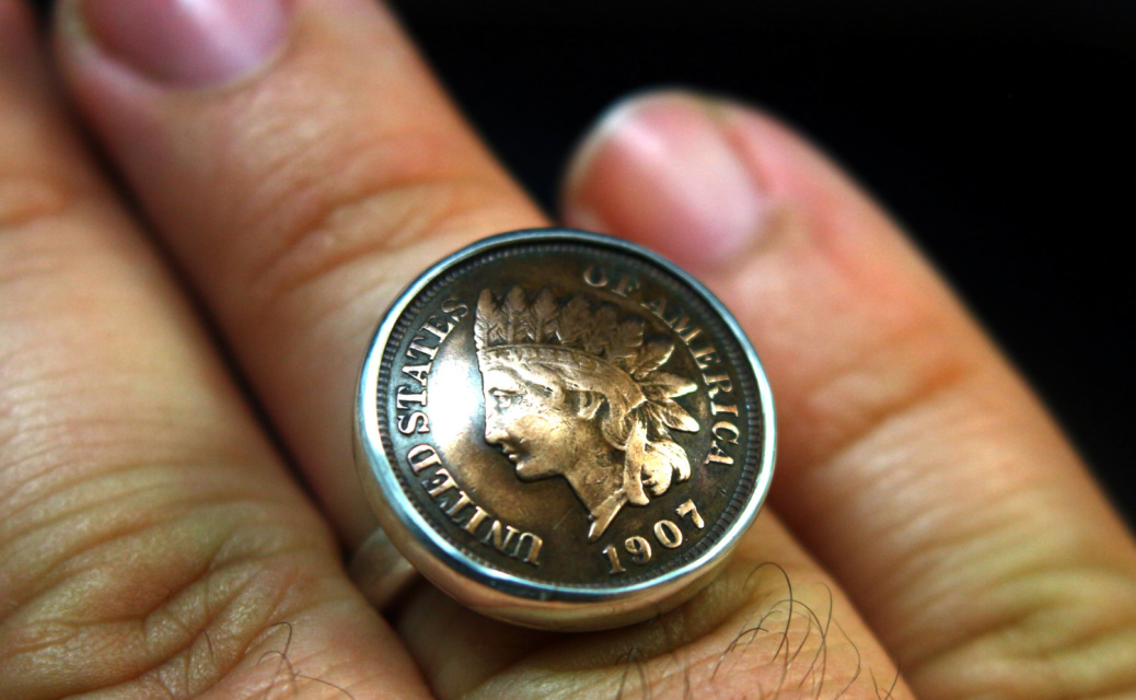 Indian Head Penny Ring American Coin Rings Silver Coin