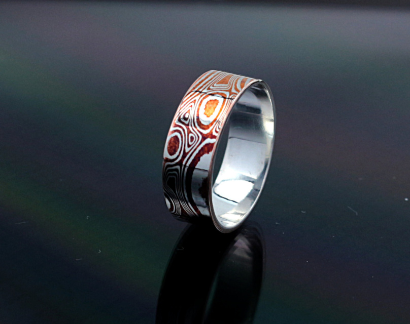platinum gane yellow of wedding star grande products in and rings men mokume classic s gold red copy band mens